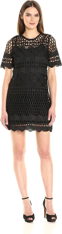KENDALL + KYLIE Womens Crochet Aline Dress Dress