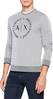 Armani Exchange A|X Men's Essential Sweatshirt, B09b Heather Grey, L