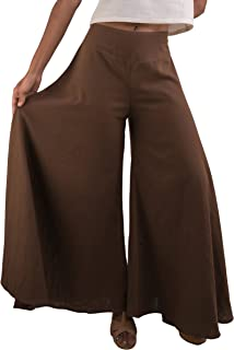 Women's Wide Leg Organic Cotton Palazzo Pants, Fair Trade