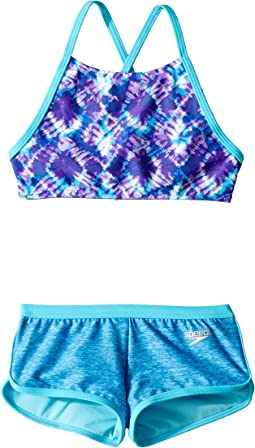 High Neck Camikini Boyshorts Two-Piece Set (Big Kids)