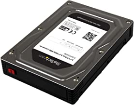 """StarTech.com 2.5"""" to 3.5"""" SATA Aluminum Hard Drive Adapter Enclosure SSD / HDD Height up to 12.5mm - 2.5in to 3.5in SATA SSD/HDD Converter (25SAT35HDD)"""