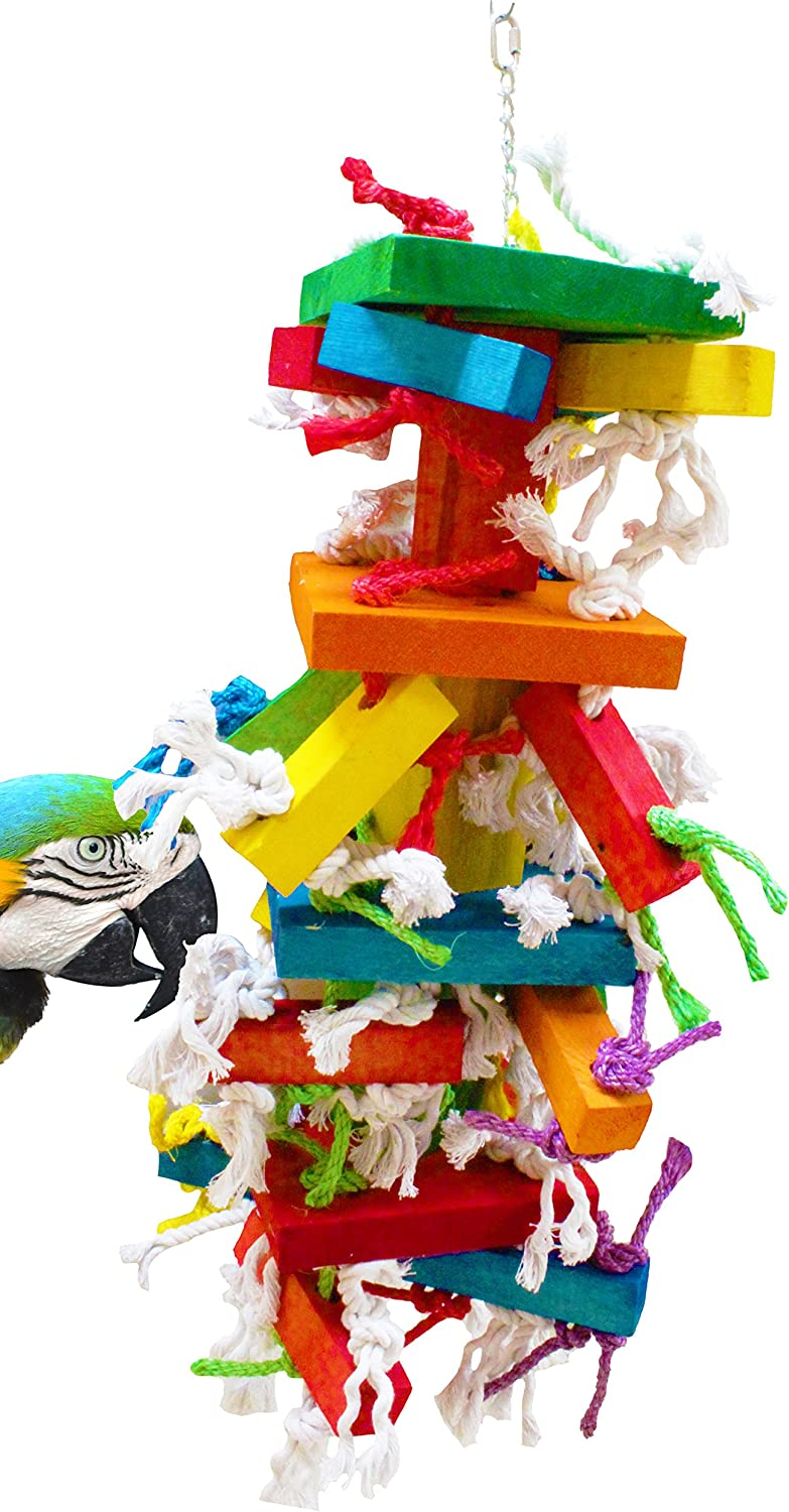 Bonka Bird Toys 1116 Gigantor Cage Cages Toy Chewy Shred Amazon Macaw Cockato