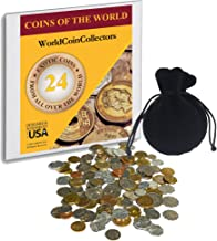 Zaioo World Coin Collectors ? 24 Foreign Coins from All Over The World - Coins of The World - Great Gifts for Teens, Kids and Adults