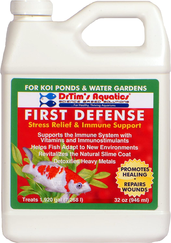 DrTim's Aquatics First Defense Stress Relief & Immune Support for Koi Ponds & Water Gardens, 32 oz