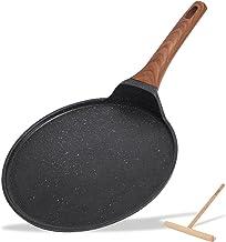 ESLITE LIFE 11 Inch Crepe Pan Nonstick Tortilla Pancake Dose Tawa Pan for Roti Induction Round Flat Skillet Griddle Pan wi...