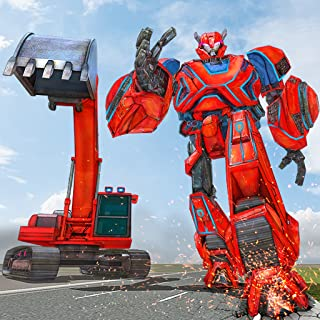 Heavy Excavator Robot Transforming Battle Simulator