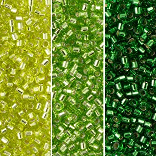 Miyuki Delica Seed Beads Bundle: Size 11/0, Palette Collection DB46, DB147, DB1206 - 3 Tubes of 7.2 Grams ea