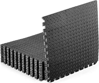 Starkhausen 4.46 Square Meters 13mm Thick Puzzle Exercise Mat, EVA Foam Interlocking Tiles, Protective Flooring for Home G...