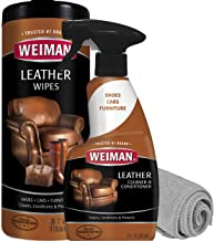 Weiman Leather Cleaner and Conditioner Kit – Non-Toxic Restores Leather Surfaces..
