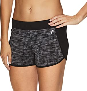 HEAD Women's Athletic Workout Shorts - Polyester Gym Training & Running Short