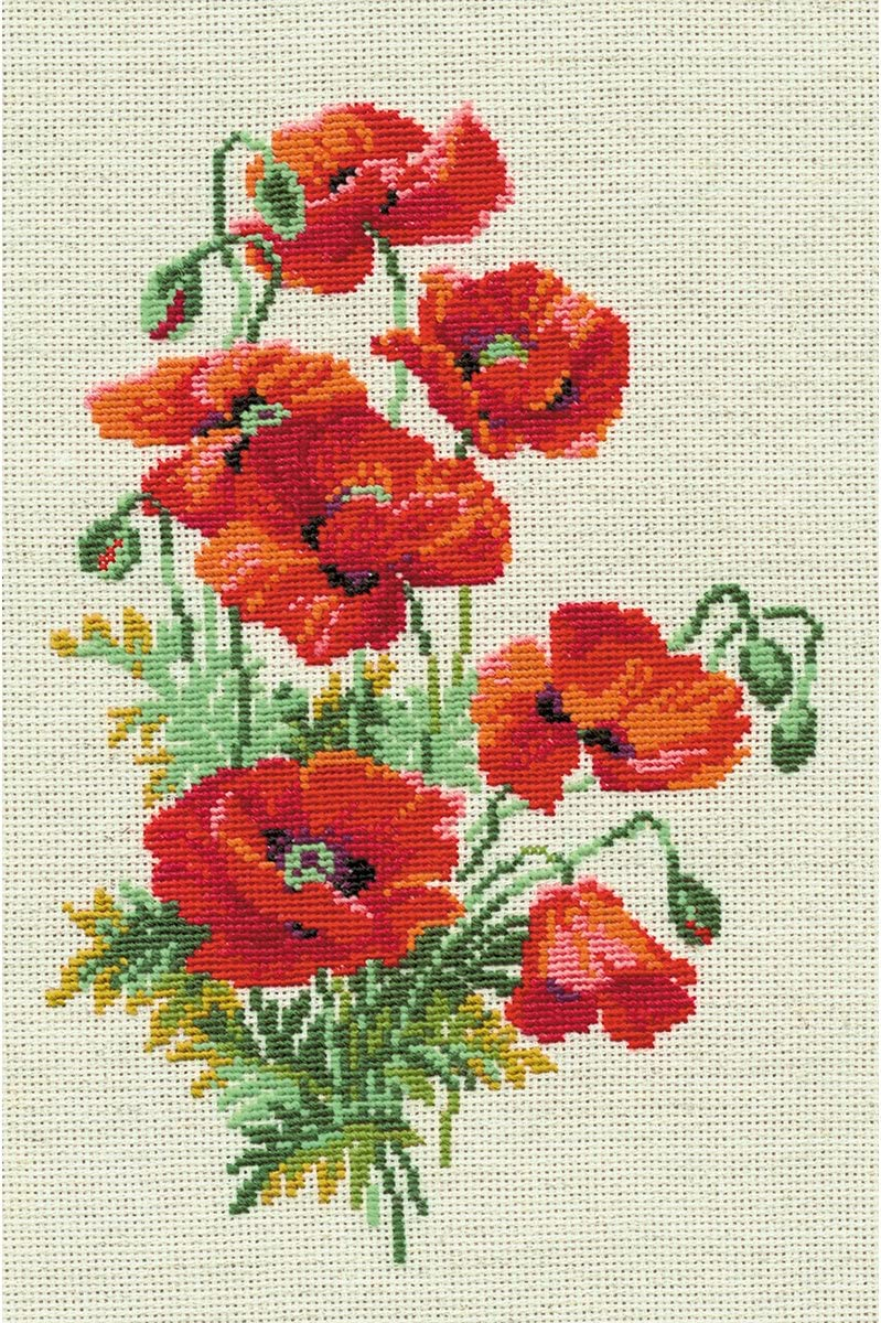 RIOLIS 808 - Wild Poppies- Counted Manufacturer OFFicial shop Cross Z 8¼