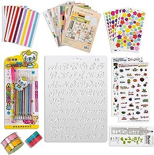 32 pièces album photo concevez vous-même accessoires kit cadeaux pour bébé enfants filles, autocollants de scrapbooking ar...