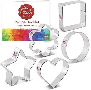 Basic Cookie Cutters Set - 5 piece - Ann Clark - Tin Plated Steel