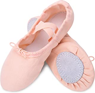 Ballet Slipper Shoes Split-Sole Dance Flat for Girls (Toddler/Little Kid/Big Kid) US 1M Little Kid-19.5cm