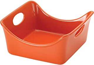 Rachael Ray Stoneware 2-Quart Square Baker, Orange