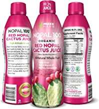 Maxx Herb Organic Nopal Cactus Juice (32 oz), Prickly Pear Cactus Juice – Antioxidant Super-fruit, Supports Blood Sugar Ba...