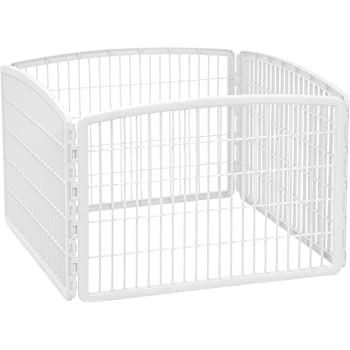 IRIS 24'' Exercise 4-Panel Pet Playpen Without Door