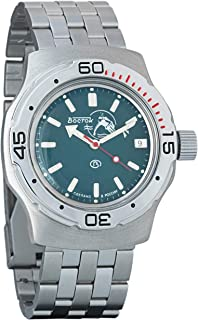Vostok Amphibian Automatic Mens Wristwatch Self-Winding Military Diver Amphibia Case Wrist Watch #160059