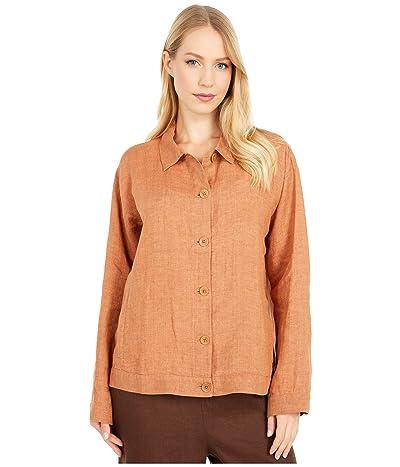 Eileen Fisher Classic Collar Jacket (Cinnamon) Women