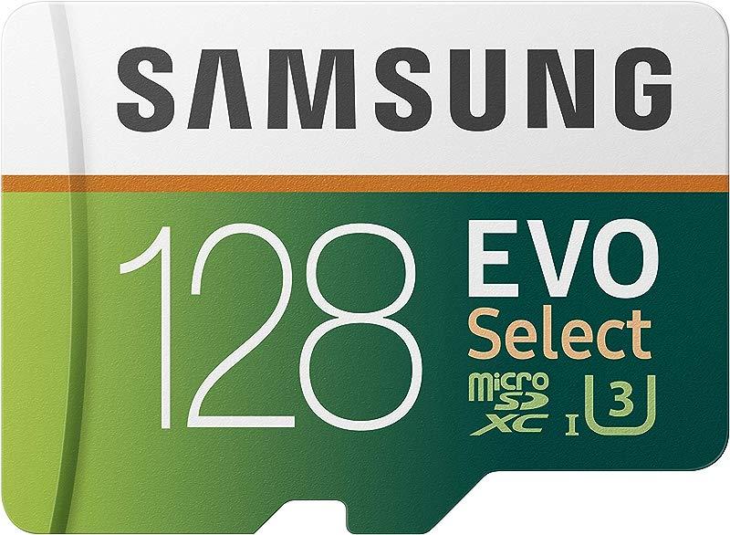 Samsung 128GB 100MB S U3 MicroSDXC Evo Select Memory Card With Adapter MB ME128GA AM