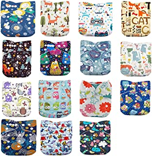 DoDo Bear Baby Cloth Diapers,One Size Adjustable Reusable Pocket Cloth Diaper 15pcs Diapers+15pcs Charcoal Bamboo Inserts+...