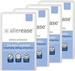 Aller-Ease Hot Water Washable Hypoallergenic Zippered Pillow Protectors, Allergist Recommended, Prevent Collection of Dust...