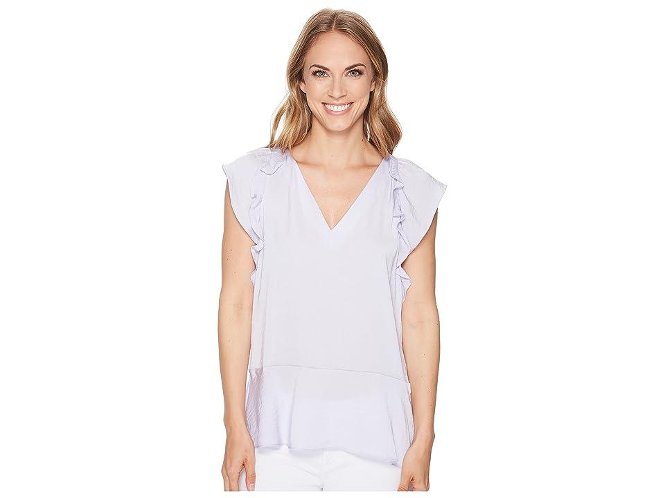 b107887ce6d MICHAEL Michael Kors Flounce V-Neck Short Sleeve Top (Light Quartz) Women