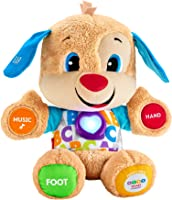 Fisher-Price Laugh & Learn Smart Stages Puppy, infant plush toy with music, lights and learning content for baby to toddler
