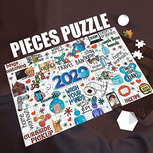 lowest Puzzle for Adults 1000 Pieces -2020 Quarantine Themed Puzzles - DIY Puzzle Game Collection - 1000 Pieces Jigsaw Puzzle, 29x19In, Creative Holiday Decor to Memorialize This wholesale high quality Difficult Year (navy, 2020) sale