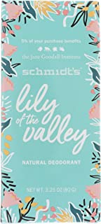 Schmidts Deodorant, Deodorant Lily of The Valley, 3.25 Ounce