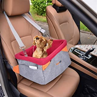 Legendog Dog Car Seat, Pet Booster Portable Travel Pet Car Seat Carrier for Dogs & Cats, Waterproof Pet Booster Carrier wi...