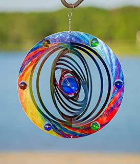 VP Home Kinetic 3D Metal Garden Wind Spinner (Celestial Planet)
