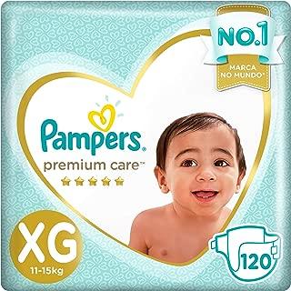 Fralda Pampers Premium Care Pacote Mensal, XG, 120 unidades