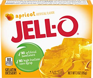 JELL-O Apricot Gelatin Dessert Mix (3 oz Boxes, Pack of 24)