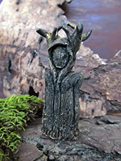 Horned God Cernunnos figurine Pagan altar doll Spirit Shaman doll Primitive figure Witch creepy decor Forest god Wicca sta...