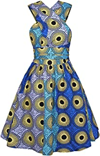 Girls Bohemia Style Pleated Dress 3D Printing Multi-Way African Dress