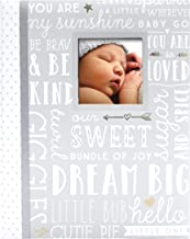Lil Peach First 5 Years Dream Big Wordplay Baby Memory Book, Memory Journal, Gray