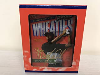 Tiger Woods PGA Golf Champion Commemorative 24 kt Gold Mini Wheaties Cereal Box with Holder and COA