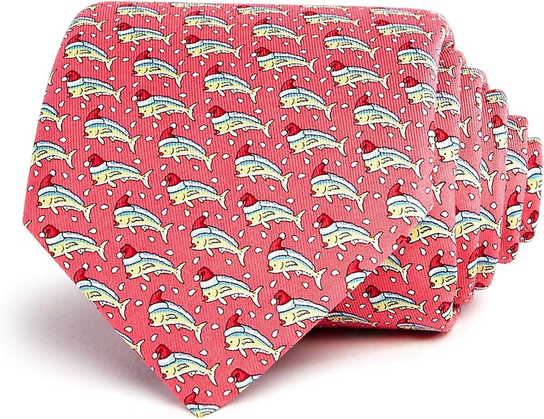 Vineyard Vines Mens Mahi Christmas Self-tied Necktie, Pink, One Size