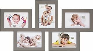 Deknudt Frames S65SY9 Wooden Multi Photo Frame for 5 Photos (each measuring 10 x 15 cm) Taupe by Deknudt Frames