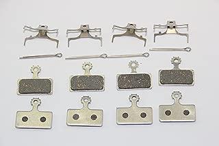 Aluminum-back bicycle disc brake pads for Shimano M985 M785 M675 M666 M615 M988 M987 M8000 M9000 SLX XTR (4 pairs)