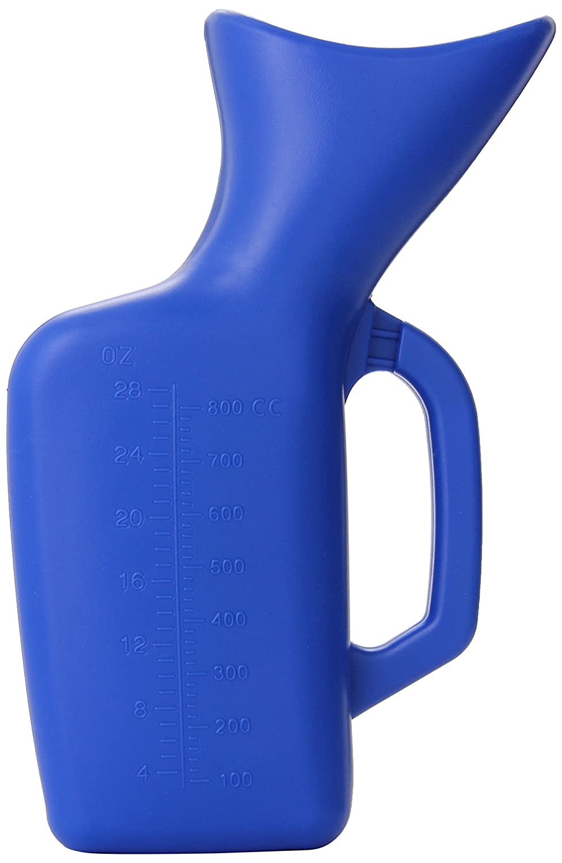 Grafco Female Funnel & Portable Urinal, Reusable Plastic Pee Bottle, Travel Toilet Essentials, 28-Ounce Capacity, 3214 : Health & Household