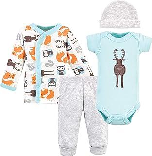 Hudson Baby Unisex Baby Preemie Layette Set 4-Piece