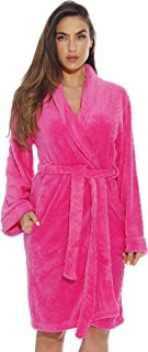 Just Love Kimono Robe Velour Chevron Texture Bath Robes for Women