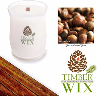 Country Jar Timber Wix Chestnuts and Clove Soy Wood Wick Candle (16 oz.) 100% US Grown Premium SuperSoy (Sale!)
