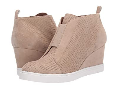 LINEA Paolo Felicia Wedge Sneaker (Sand Perforated Suede) Women