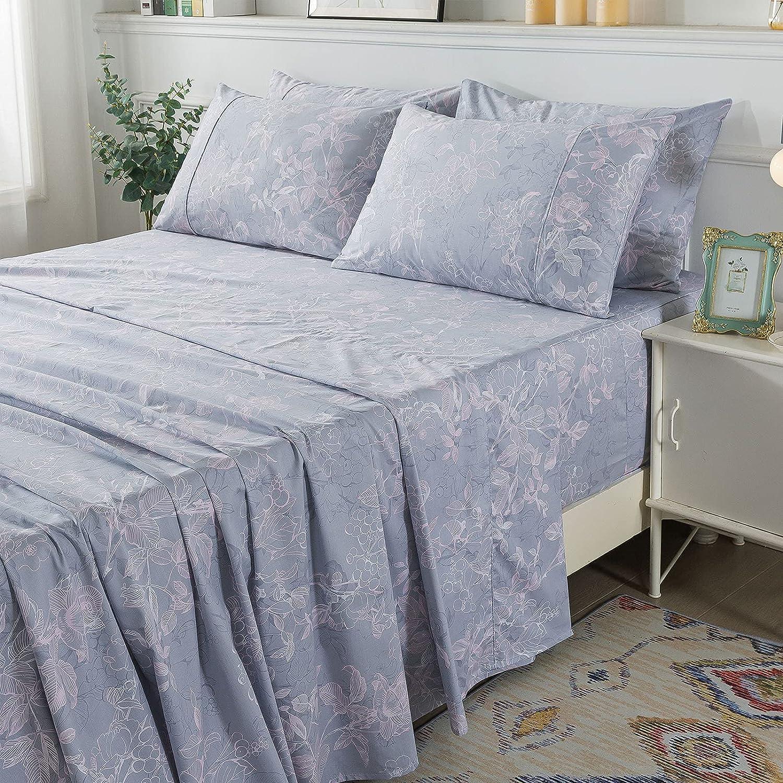 FADFAY California Max 77% OFF King Size Sheets Ranking TOP8 Premium Gr 100% 600 Cotton TC