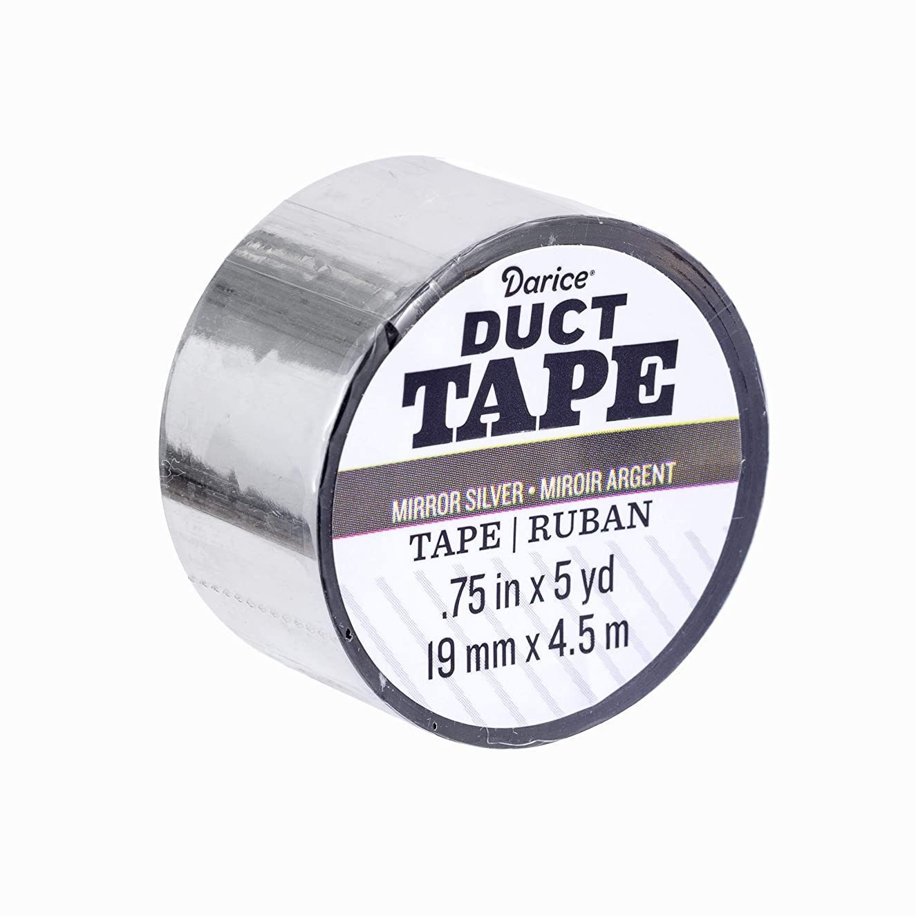 Darice 30079631 Mini Roll: Mirror Silver, 0.75 Inches x 5 Yards Duct Tape,