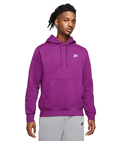 Nike NSW Club Hoodie Pullover (Viotech/Viotech/White) Men