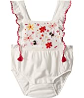 Anemone Floral Embroidered Romper (Infant)